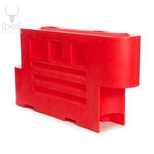 Red 2000 barrier on white background
