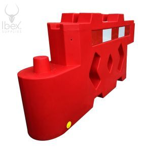 Red Bison barrier on white background