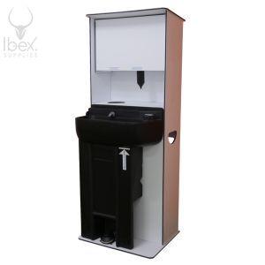 Large hand washing station on white background