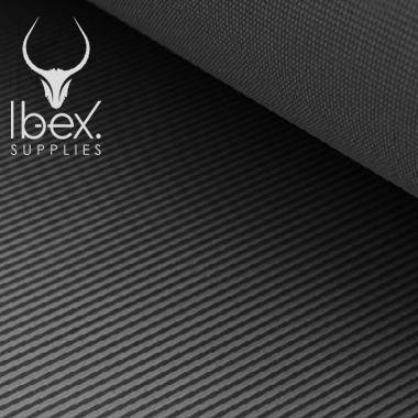 Black fine ribbed rubber matting
