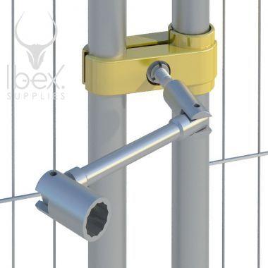 Anti tamper spanner on in situ on mesh fence