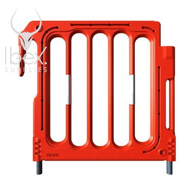 Red double topper for barrier on white background