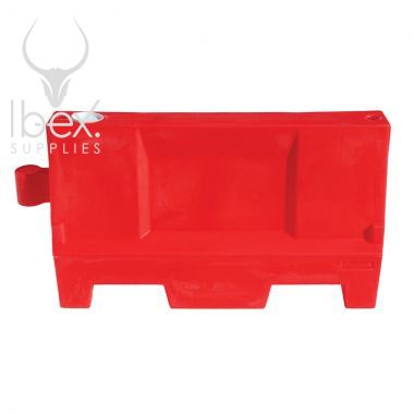Red Evo 55 barrier against a white background