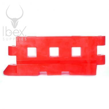 Red GB2 traffic barrier on white background