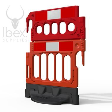 Red mini double top barrier on white background