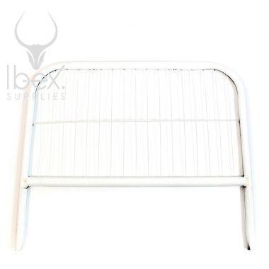 White mini mesh fence on a white background