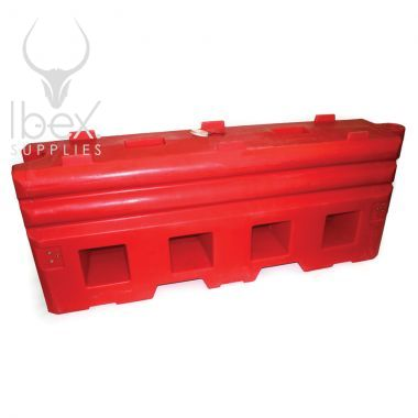 Red RB22 heavy barrier on white background
