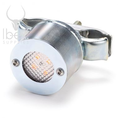 Metal fence light on white background