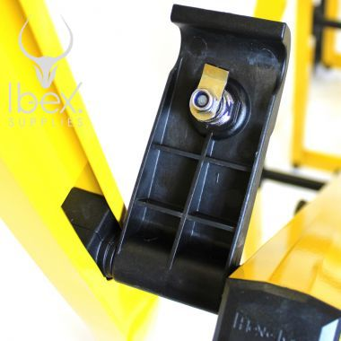 Back of latch key in yellow Turtlegate barrier